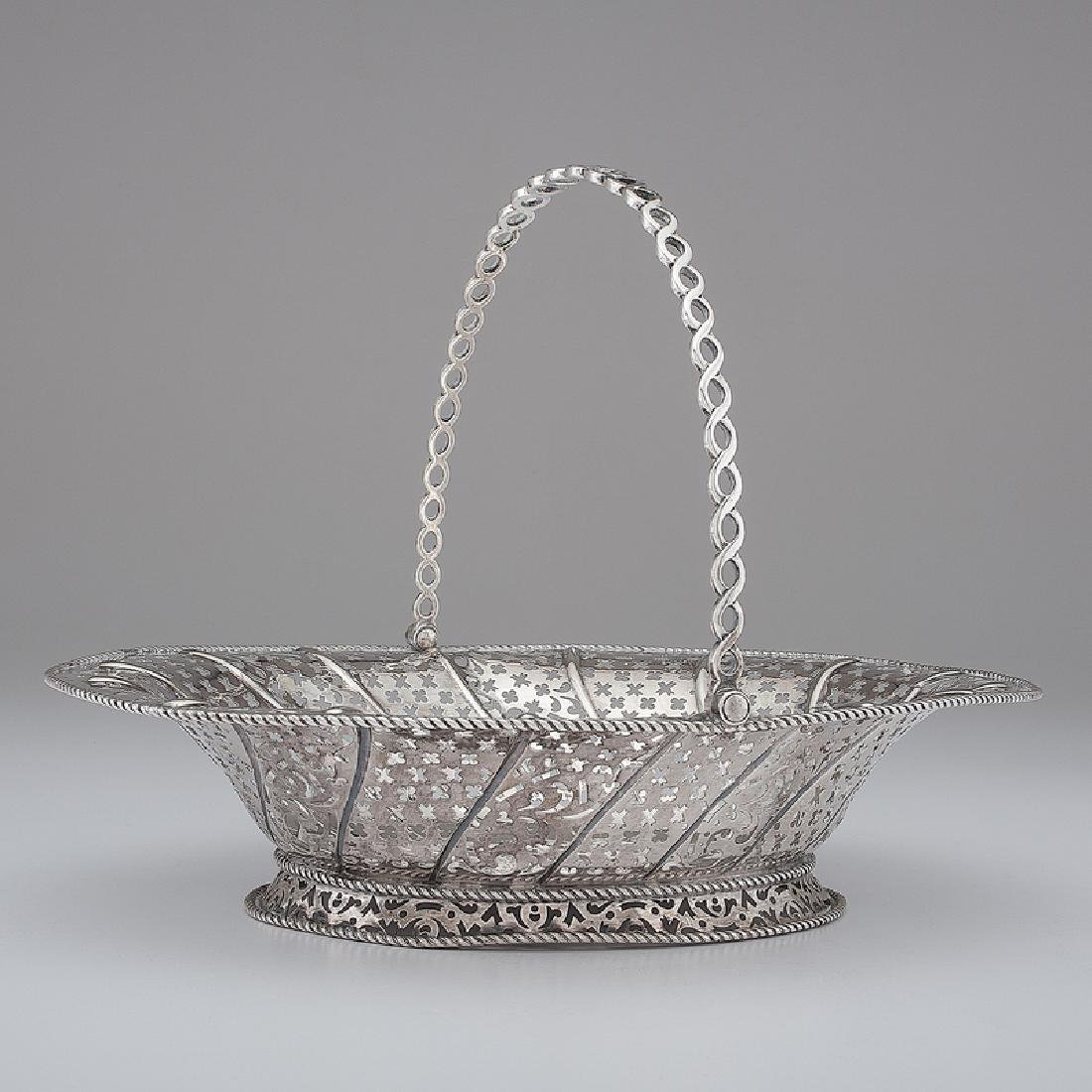 Georgian Sterling Silver Basket