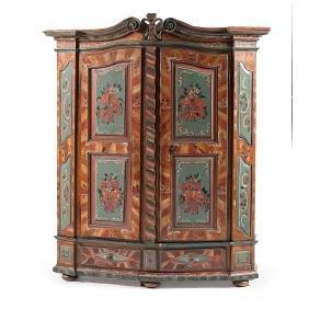 Eastern European Painted Cupboard