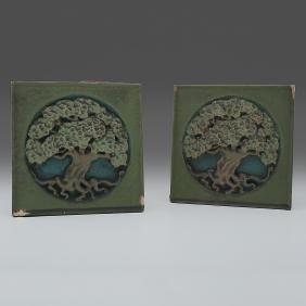 Rookwood Pottery Tree Of Life Faience Tiles