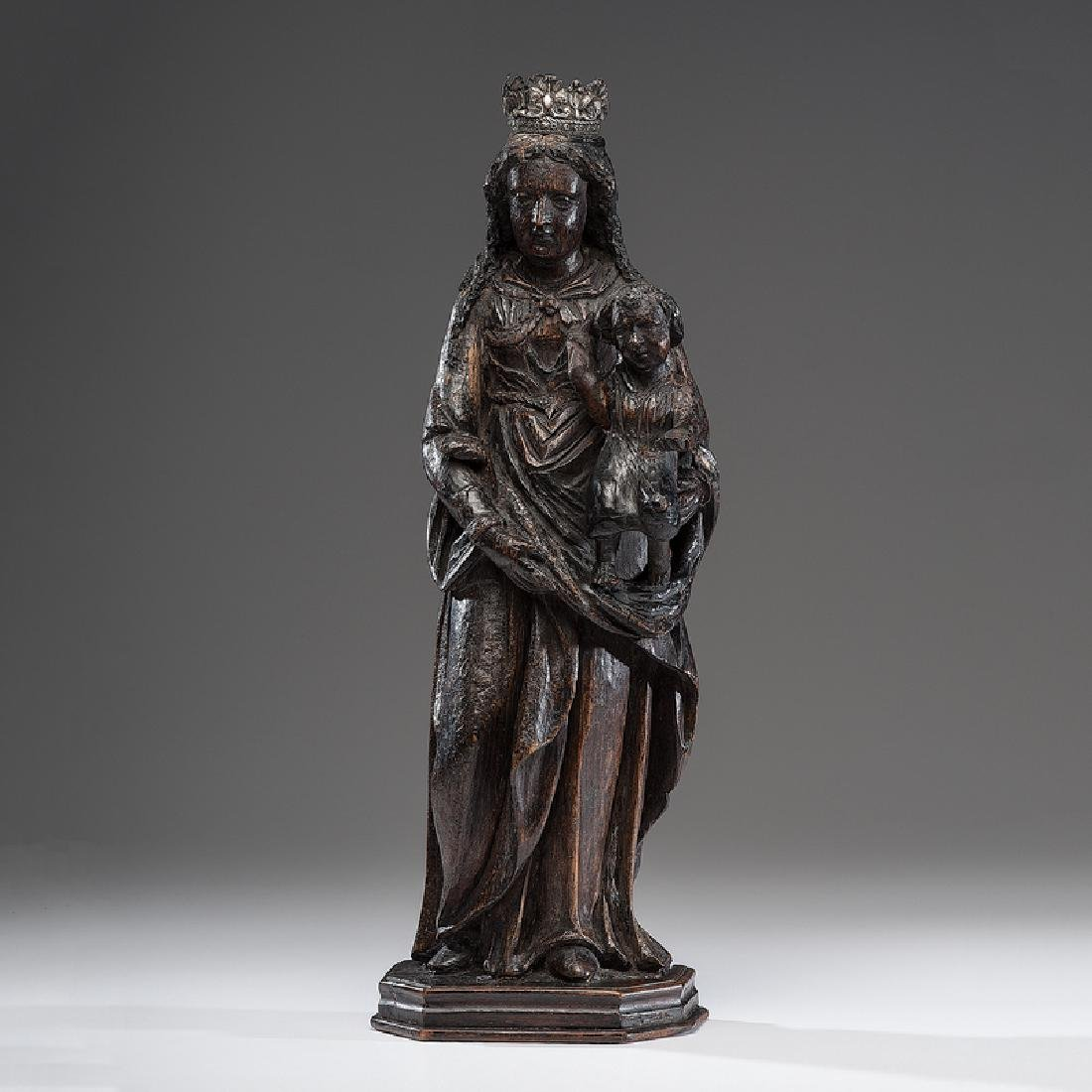 Spanish Colonial Carved Wood Santo