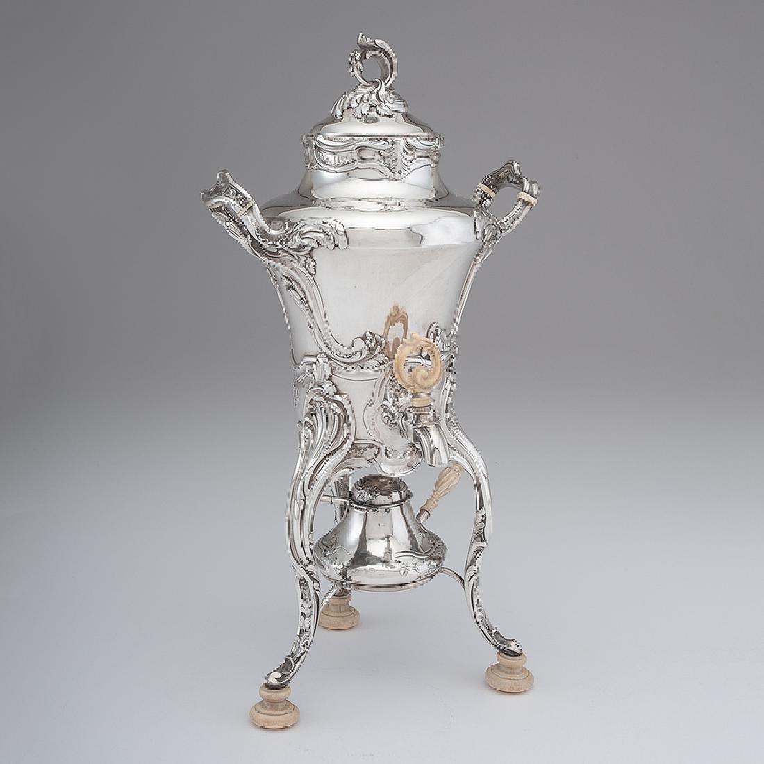 French Silver Hot Water Urn