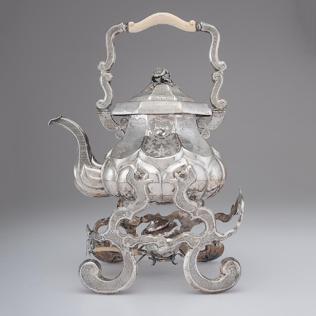 Austrian Silver Tea Kettle on Stand