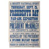William McKinley, Broadside Announcing Appearance at
