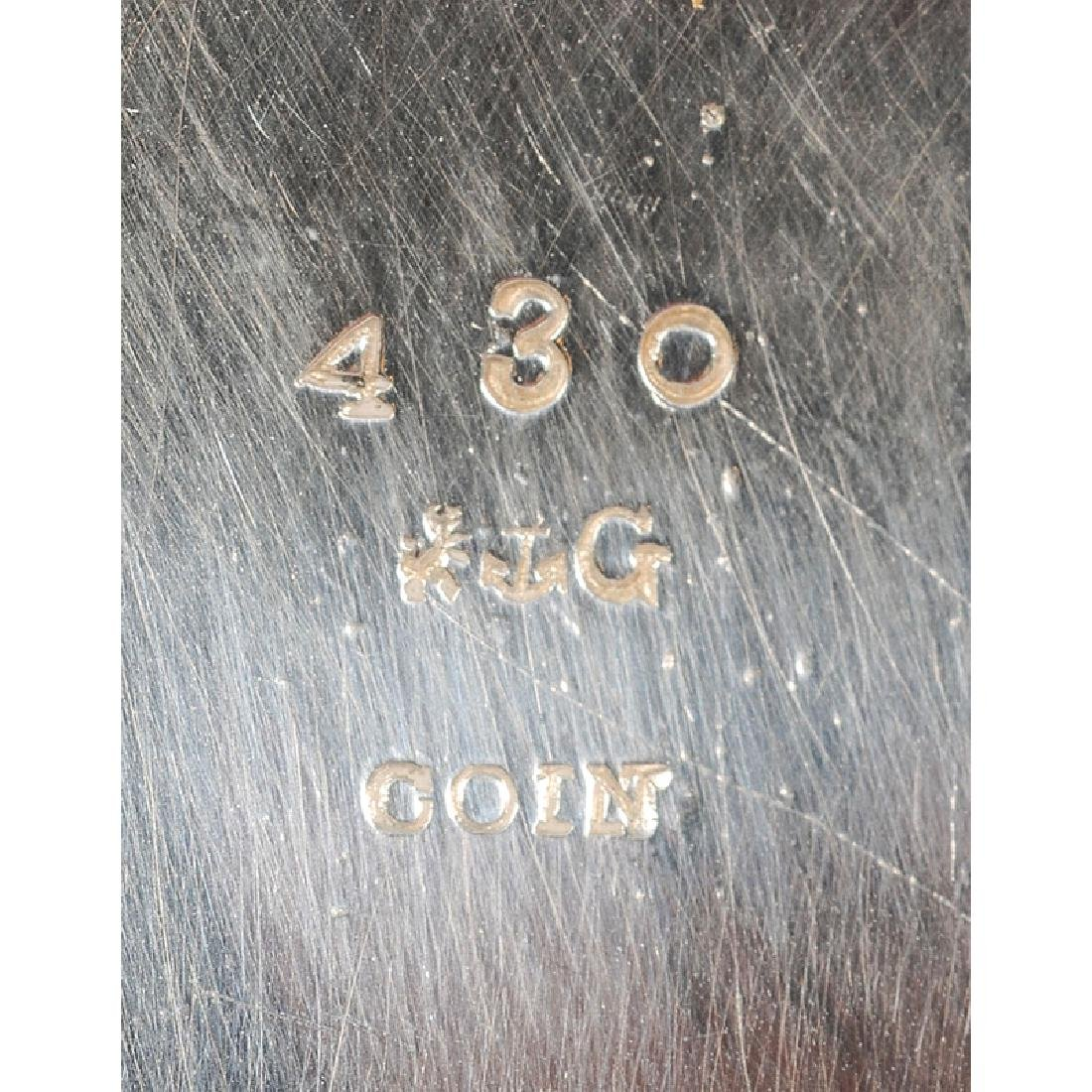 Gorham Coin Silver Egyptian Revival Master Salt - 3