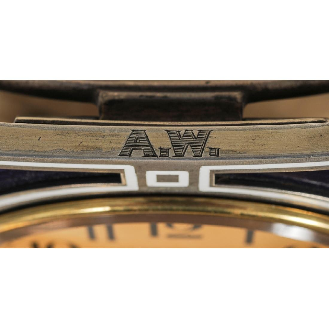 J. E. Caldwell Silver and Enamel Desk Clock - 2
