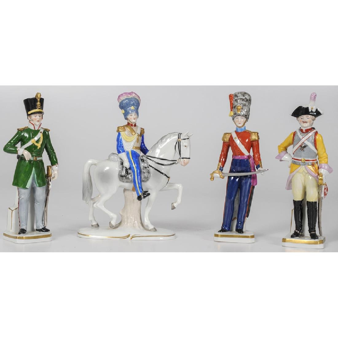 Sitzendorf Porcelain Military Figurines