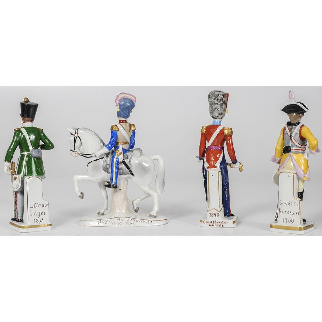 Sitzendorf Porcelain Military Figurines - 2