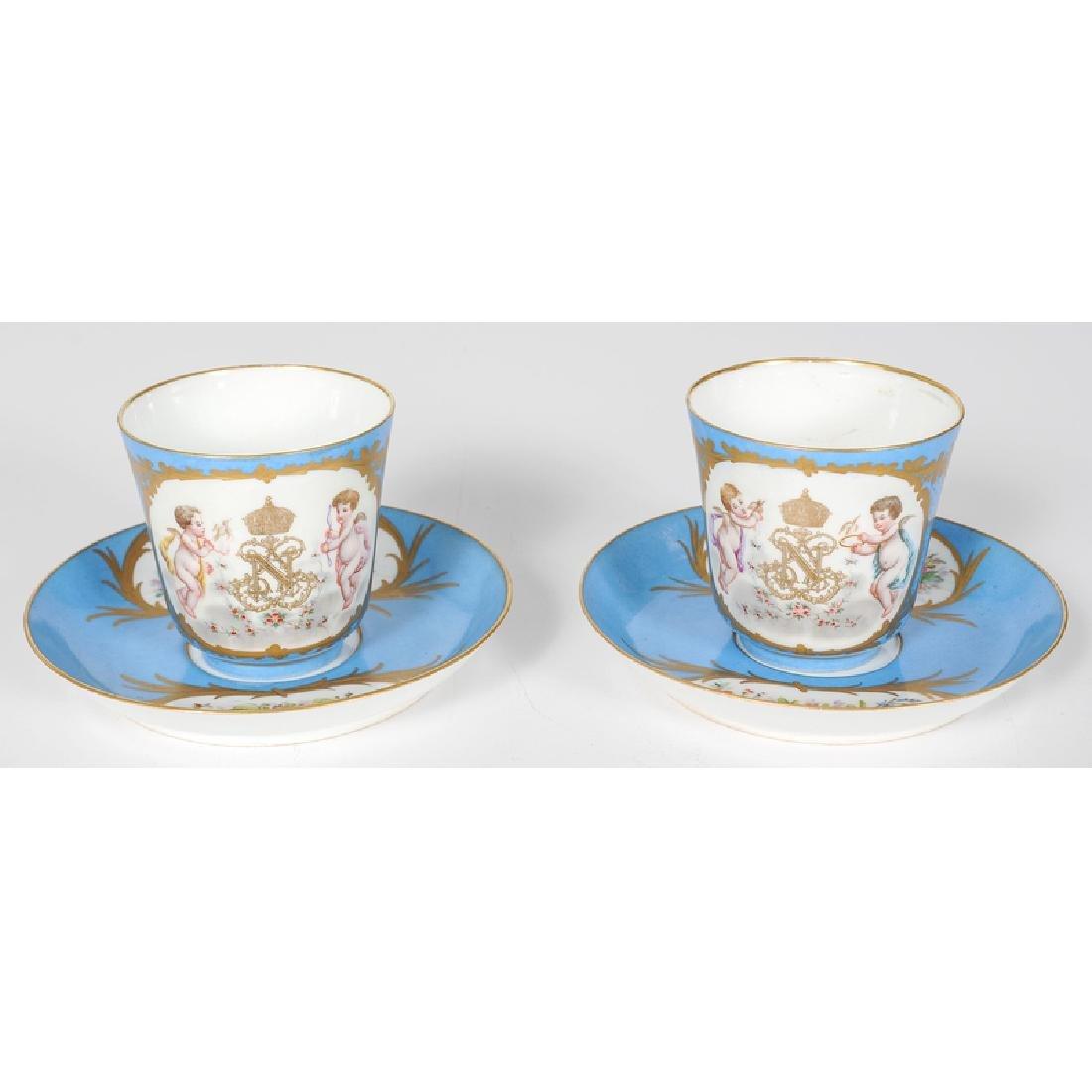 Sèvres Porcelain Cup and Saucer Set