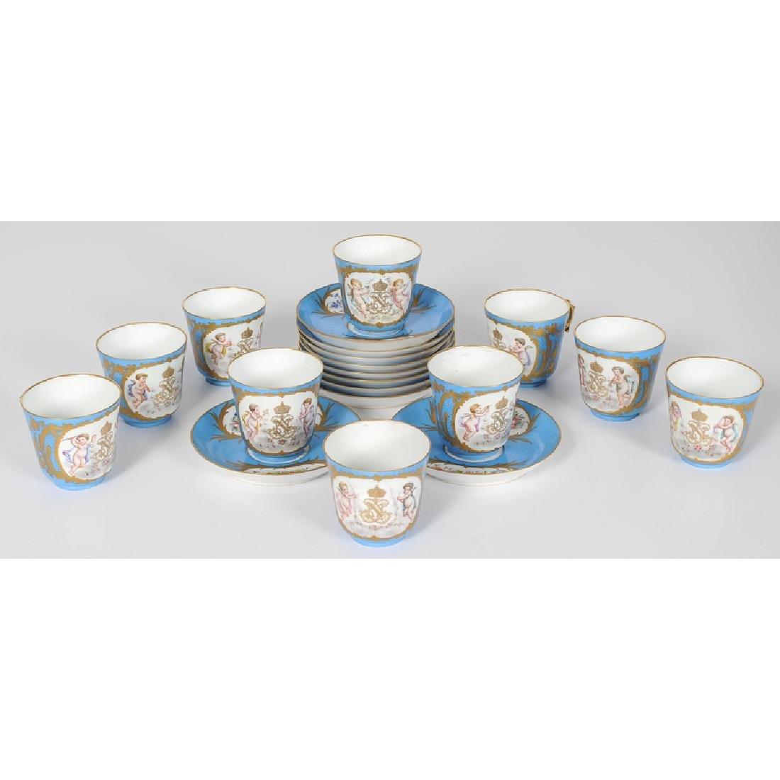Sèvres Porcelain Cup and Saucer Set - 2