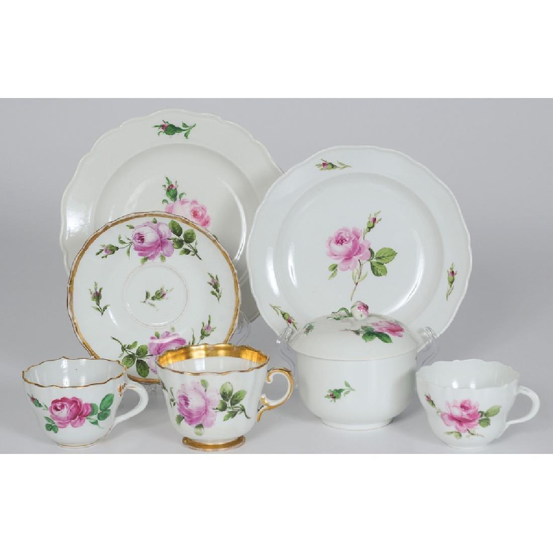 Meissen Porcelain Partial Service, Rose Pink