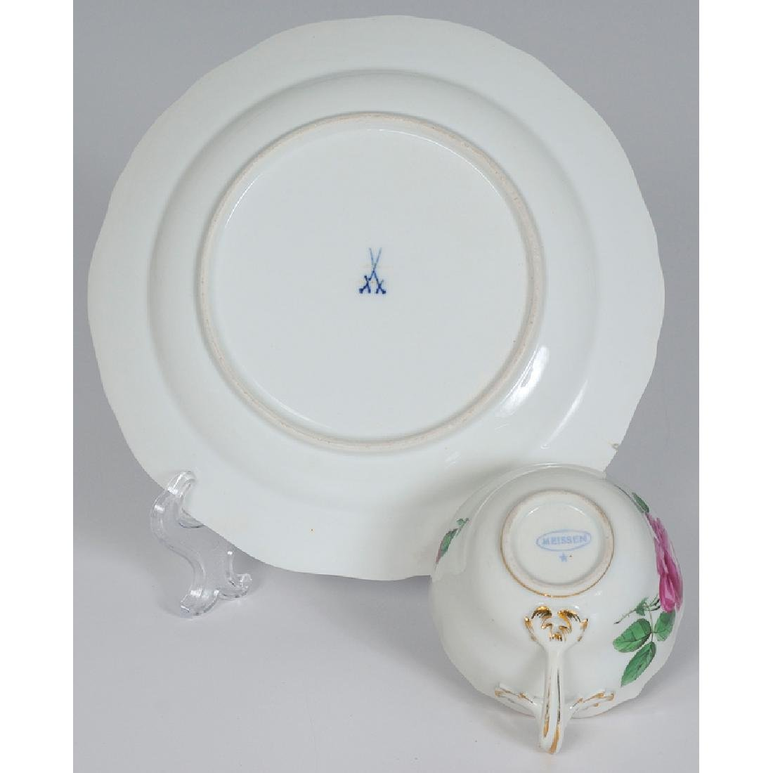Meissen Porcelain Partial Service, Rose Pink - 3