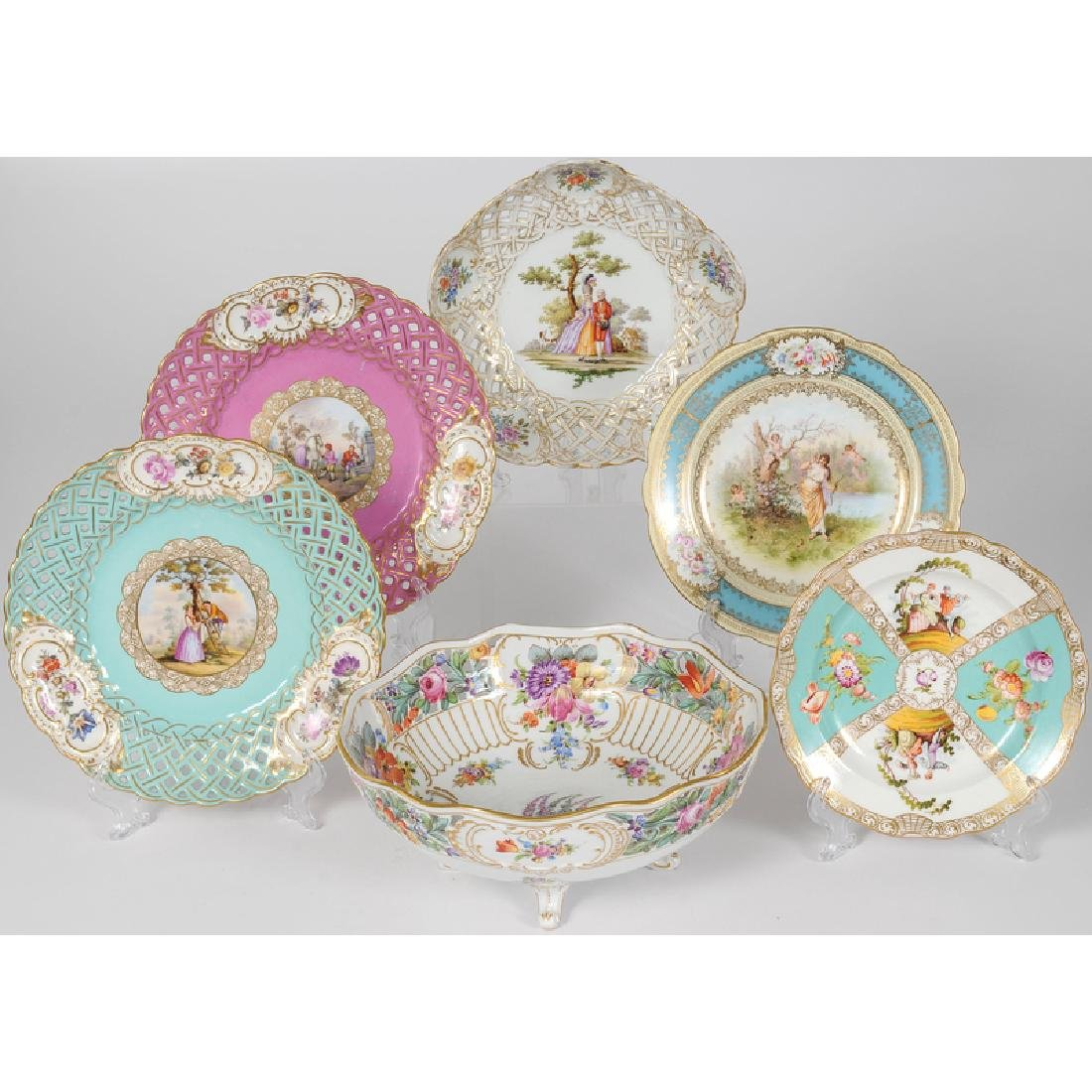 Dresden and Meissen-style Porcelain