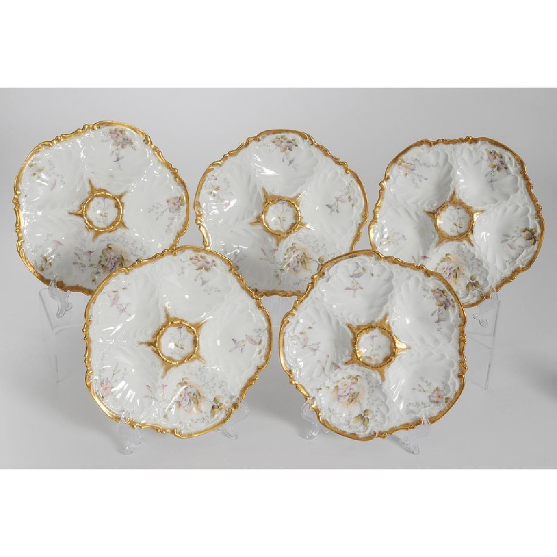 Limoges Porcelain Oyster Plates