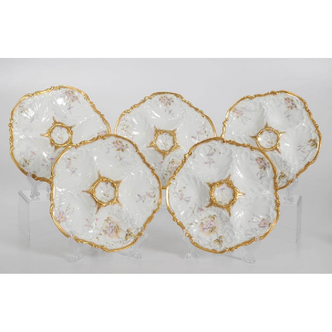 Limoges Porcelain Oyster Plates - 2