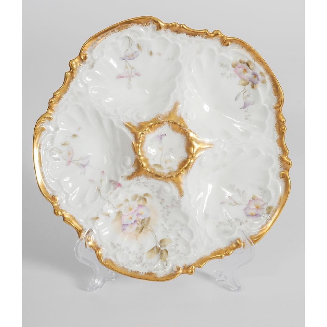 Limoges Porcelain Oyster Plates - 3