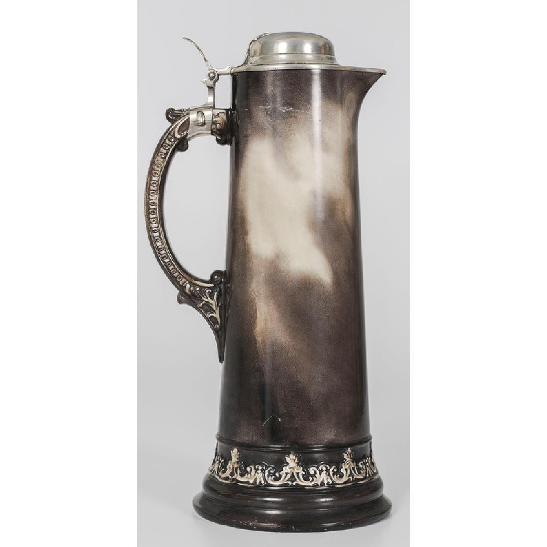 Lenox Porcelain Tankard with Gorham Sterling Lid - 2