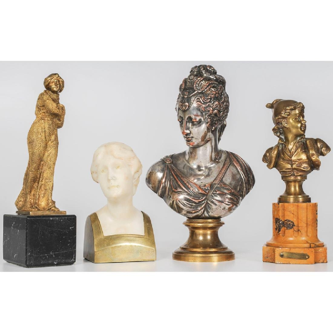 French Bronze and Marble Sculptures