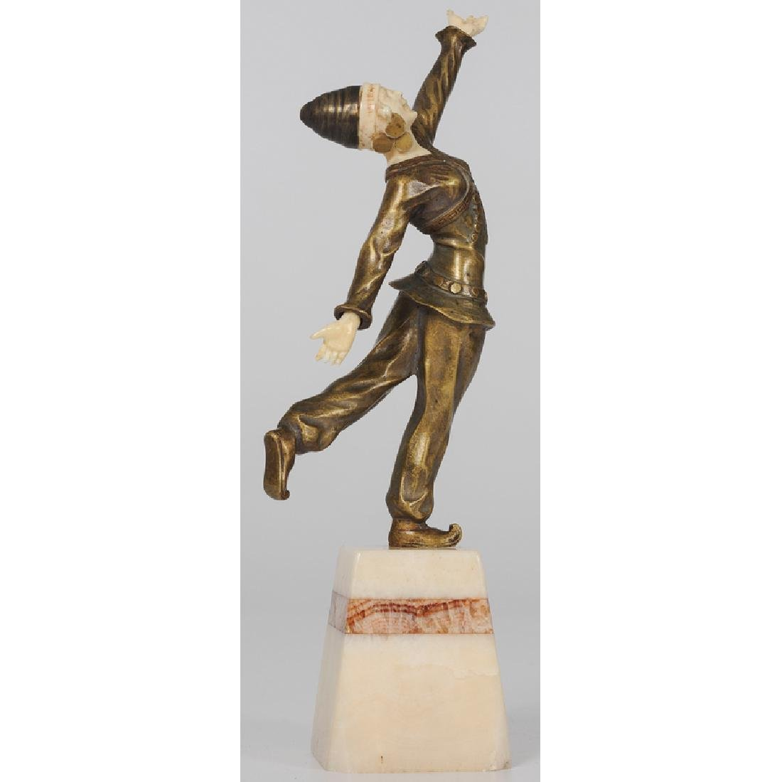 Ivory and Bronze Sculpture Signed Solange Bertrand