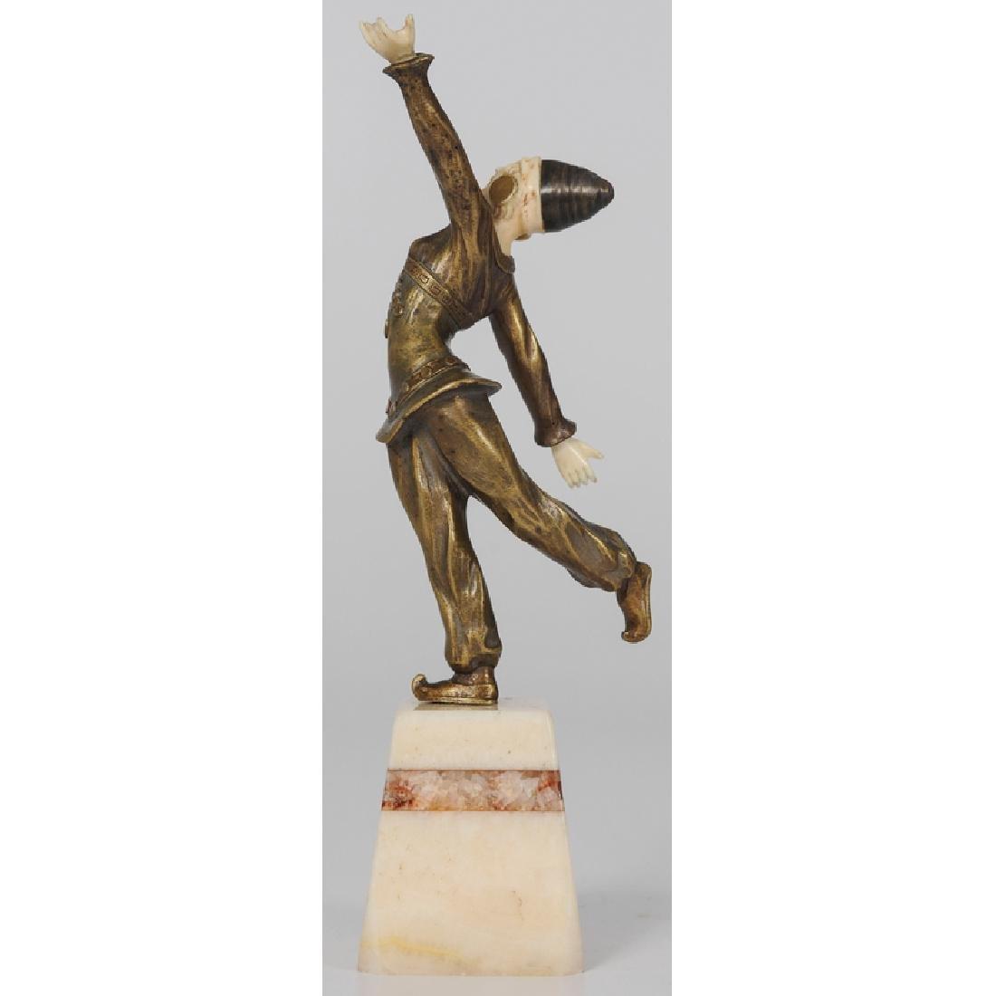 Ivory and Bronze Sculpture Signed Solange Bertrand - 2