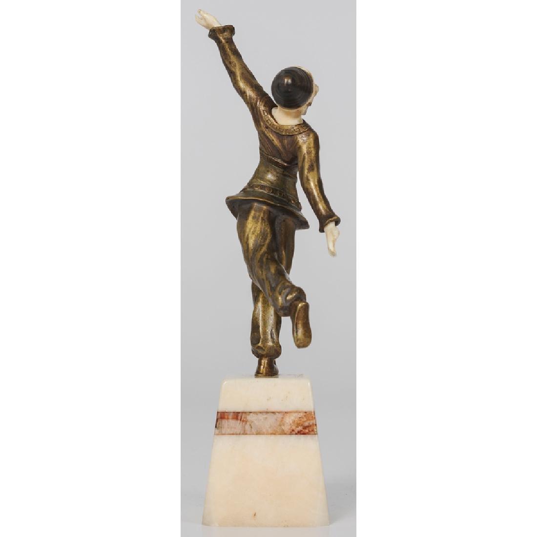 Ivory and Bronze Sculpture Signed Solange Bertrand - 3
