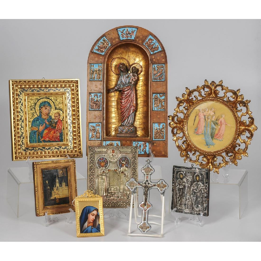 Religious Devotional Works Including Russian and Greek
