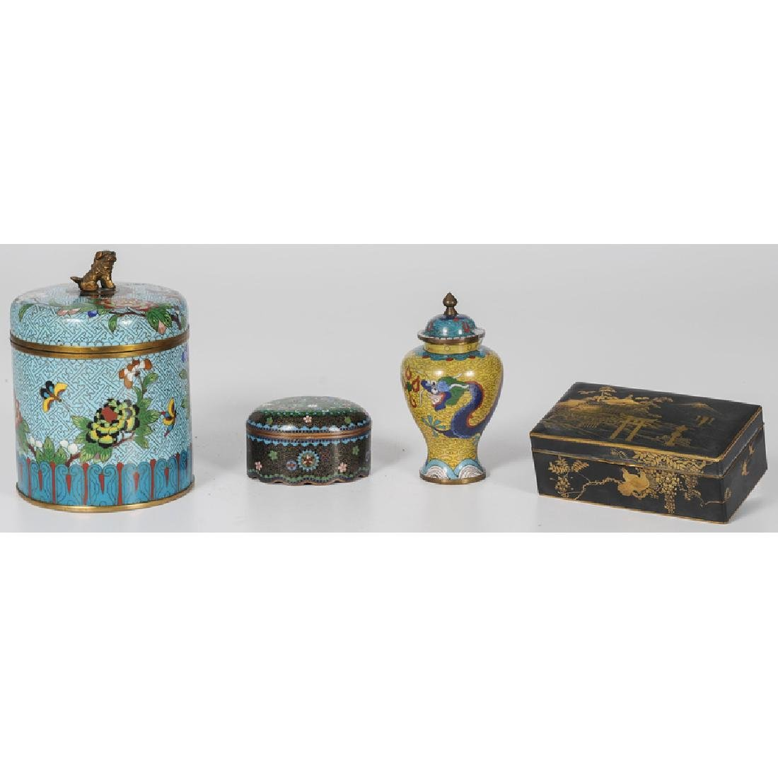 Chinese Cloisonné and Japanese Komai Vessels