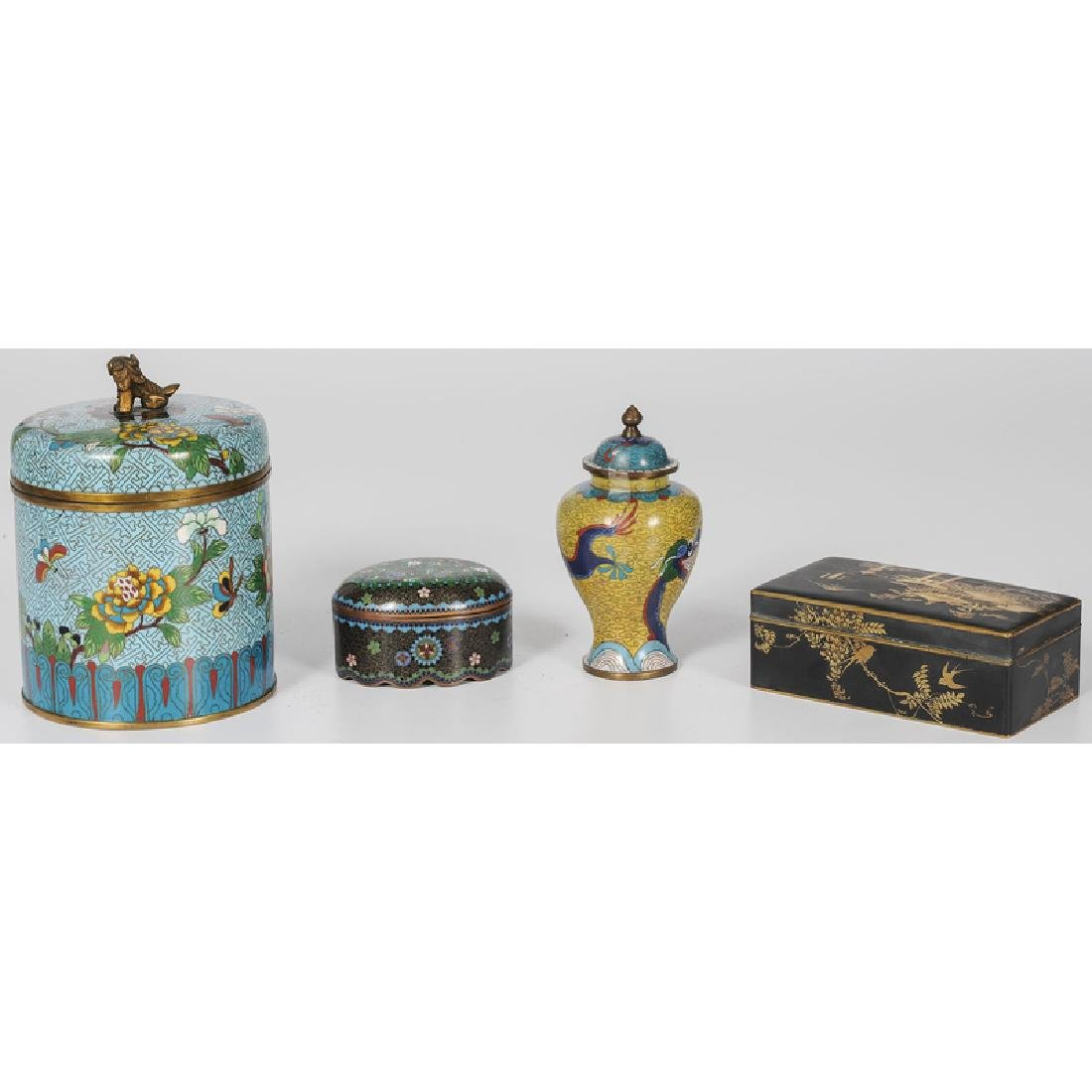 Chinese Cloisonné and Japanese Komai Vessels - 2
