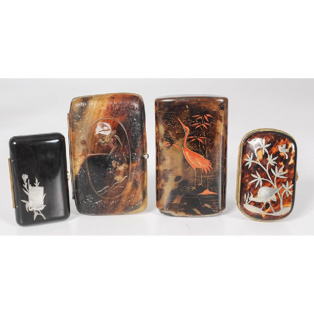 Tortoise Shell Cigar and Calling Card Cases
