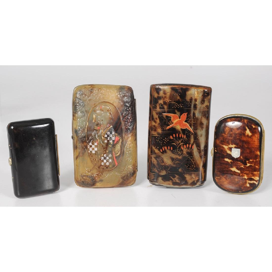 Tortoise Shell Cigar and Calling Card Cases - 2