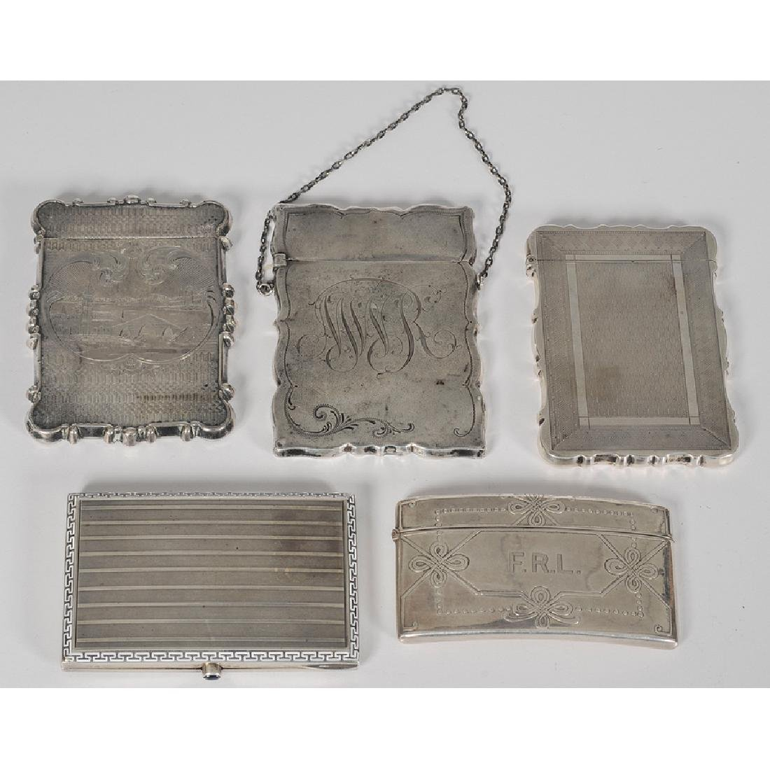 Tiffany and Other Silver Calling Card Cases