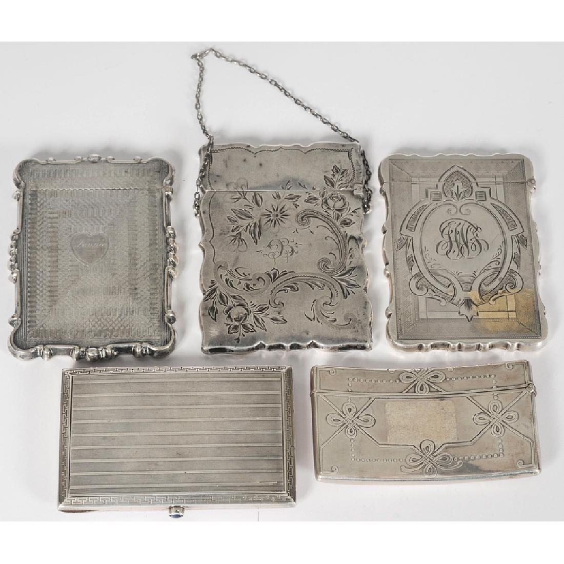 Tiffany and Other Silver Calling Card Cases - 2