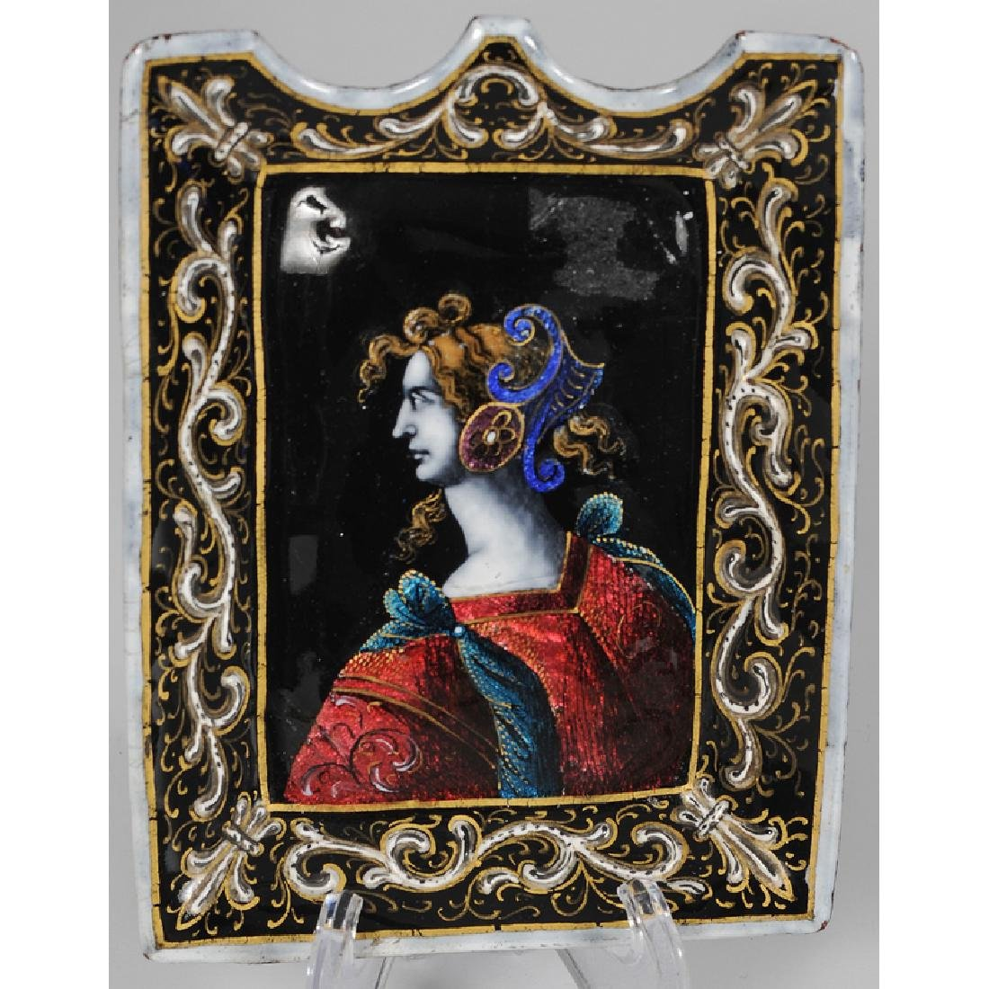 Austrian Placecard Holders, French Enamel Calling Card - 3
