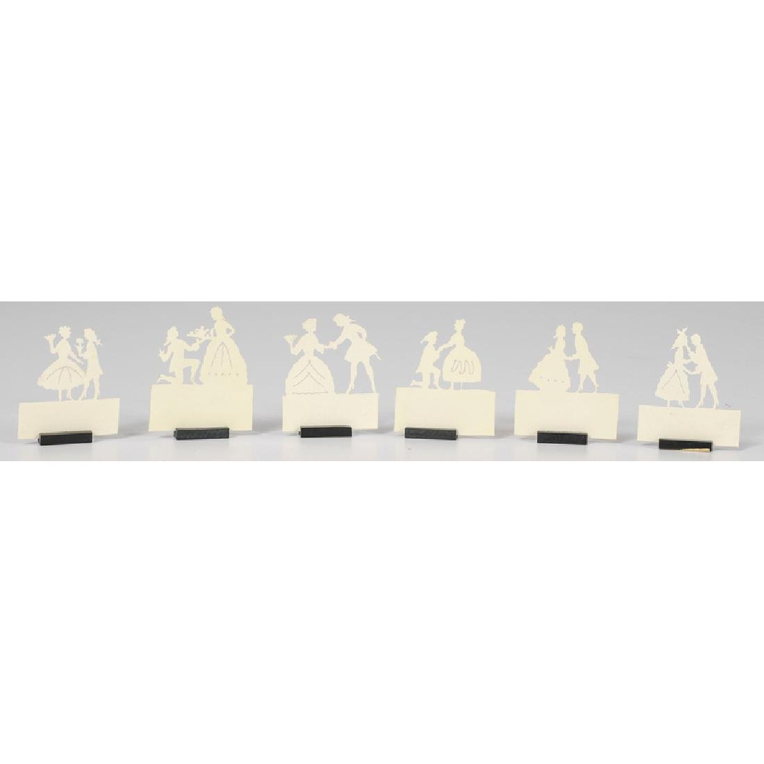 Austrian Placecard Holders, French Enamel Calling Card - 4
