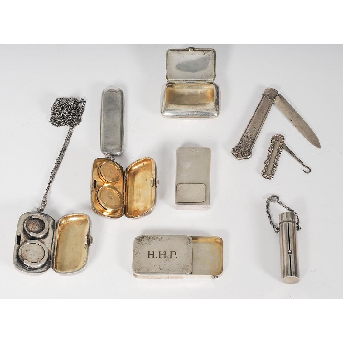 Sterling Coin Boxes and Assorted Accessories, Plus - 2