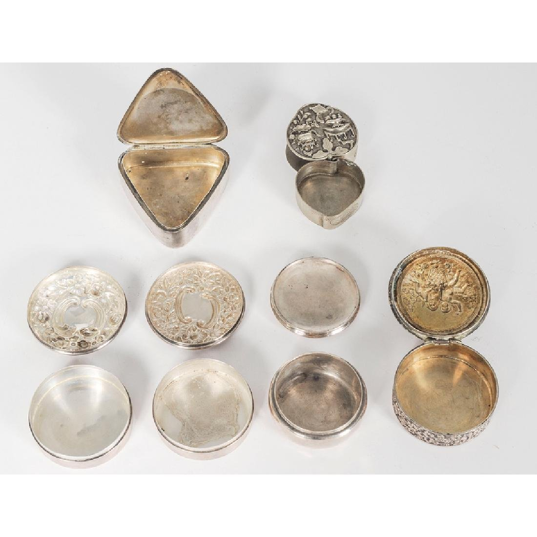 Fine Group of Sterling Pill Boxes, Including Gorham and - 2