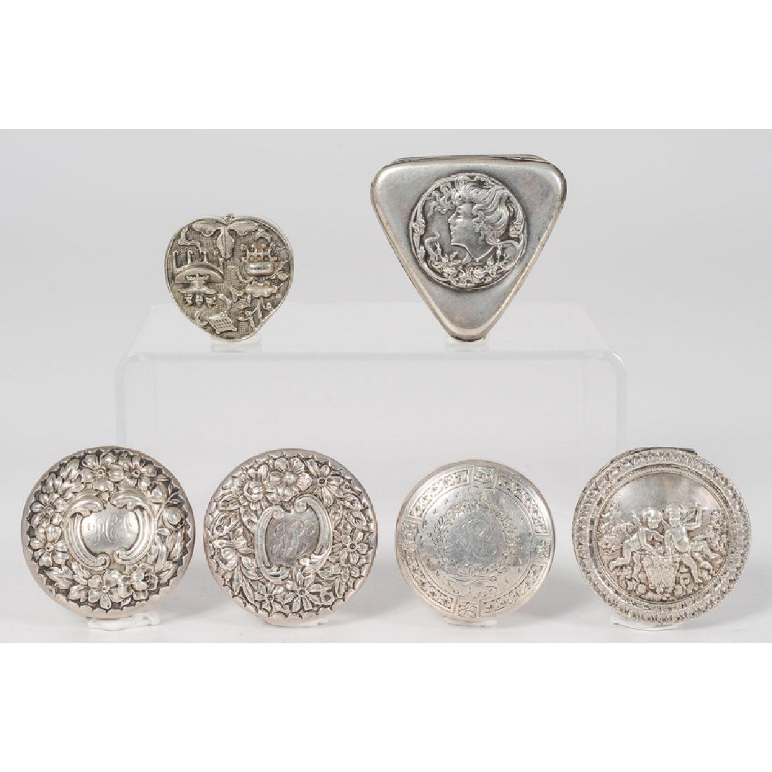 Fine Group of Sterling Pill Boxes, Including Gorham and - 3