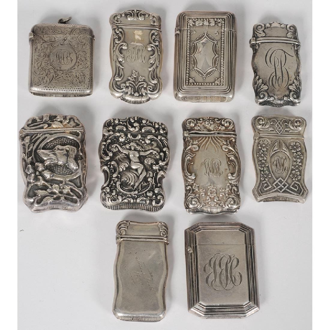 Unger Bros. and Other Sterling Silver Match Safes