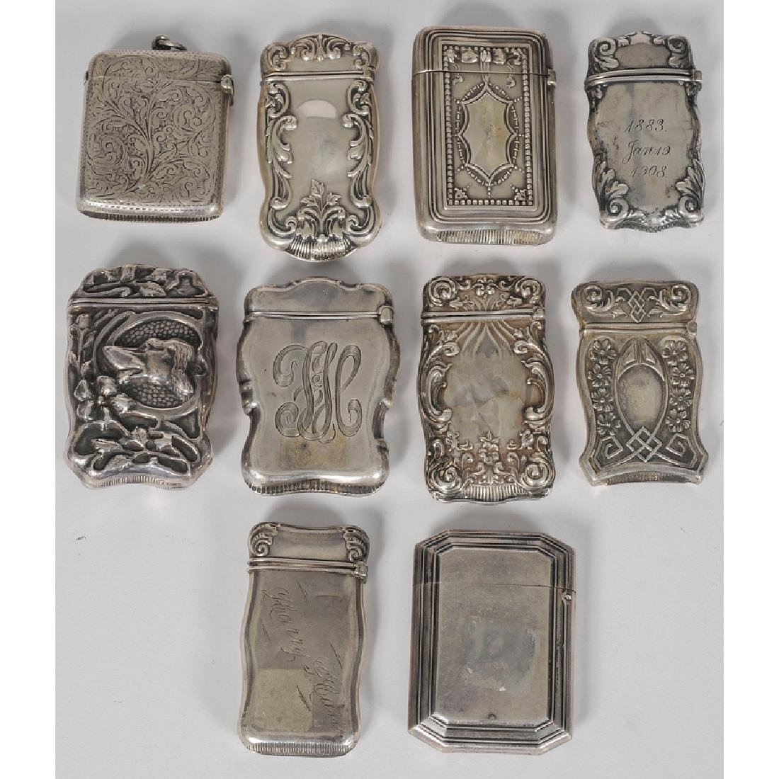 Unger Bros. and Other Sterling Silver Match Safes - 2