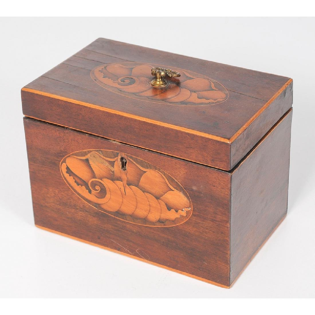 Tea Caddy with Inlaid Conch Shell Decoration