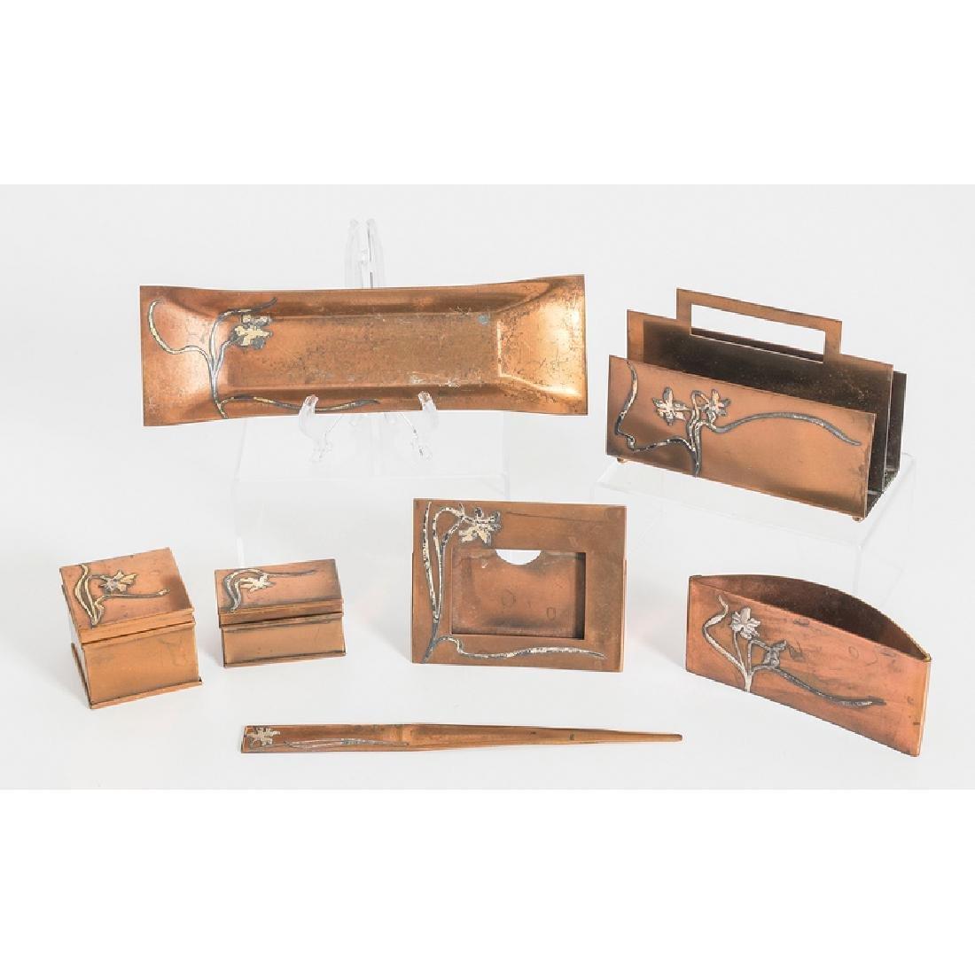 Heintz Sterling on Bronze Desk Accessories