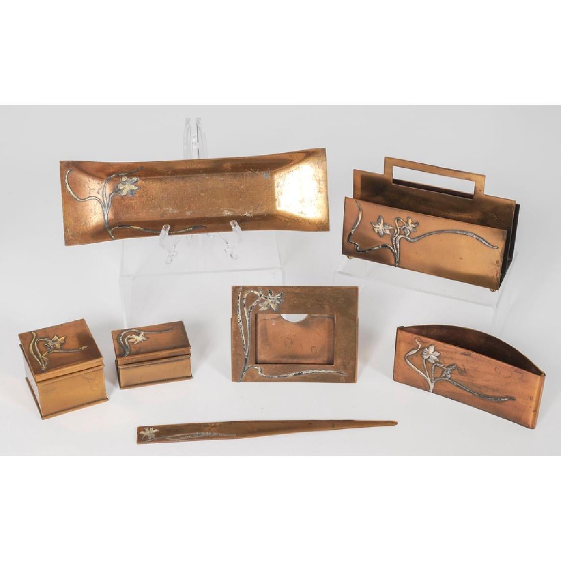 Heintz Sterling on Bronze Desk Accessories - 2