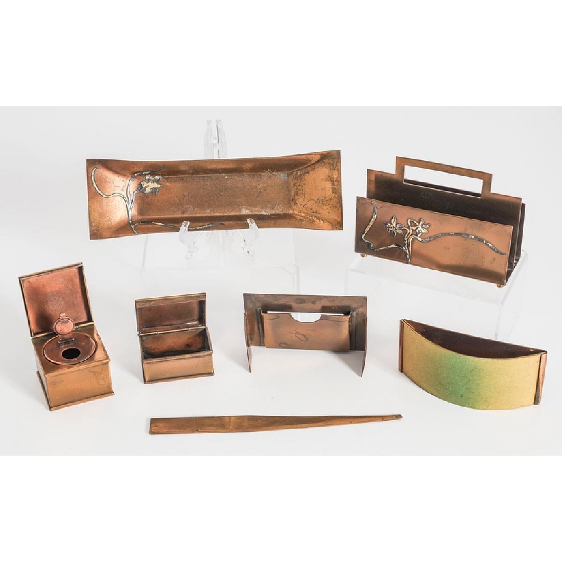Heintz Sterling on Bronze Desk Accessories - 3
