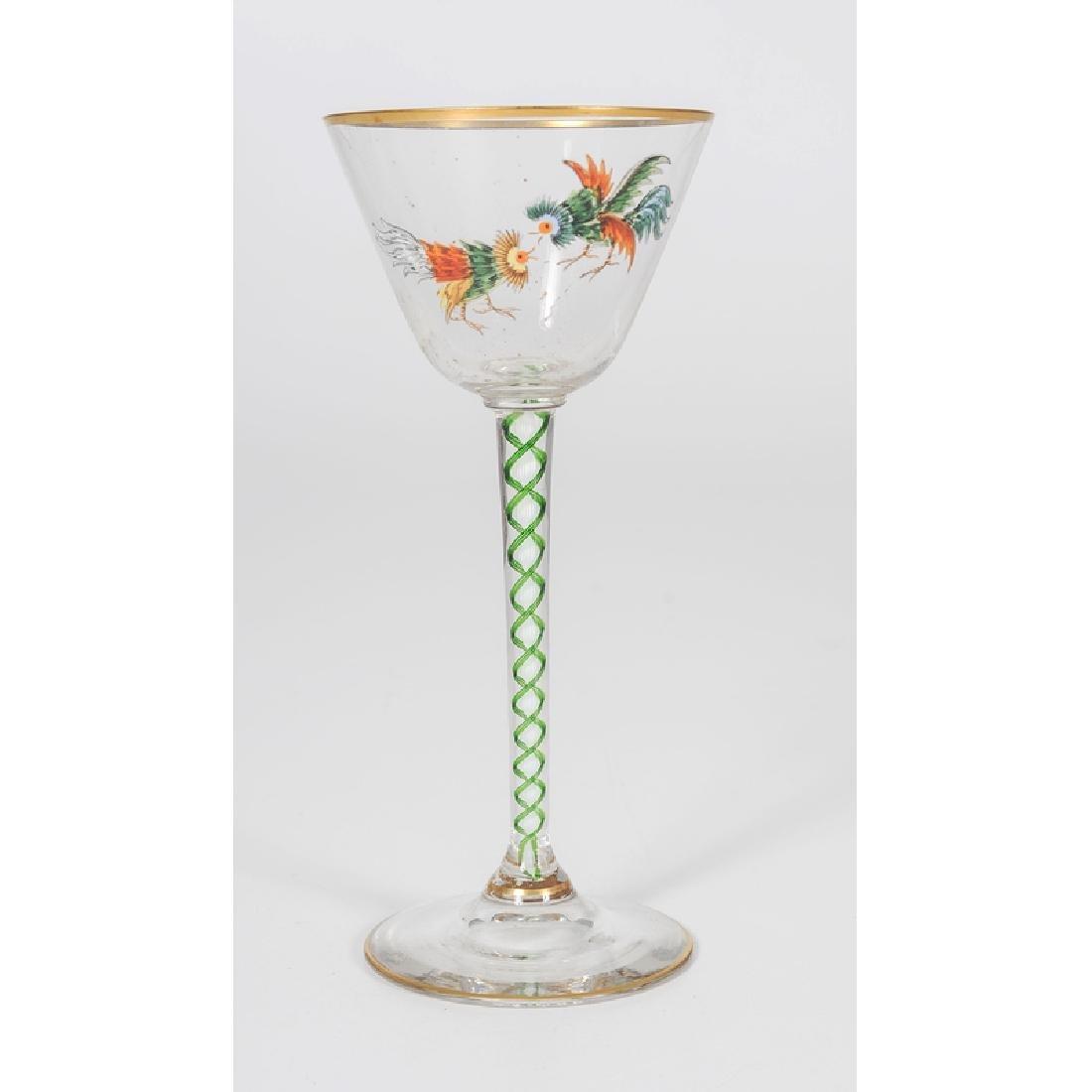 Threaded Glass Wine Glasses - 3