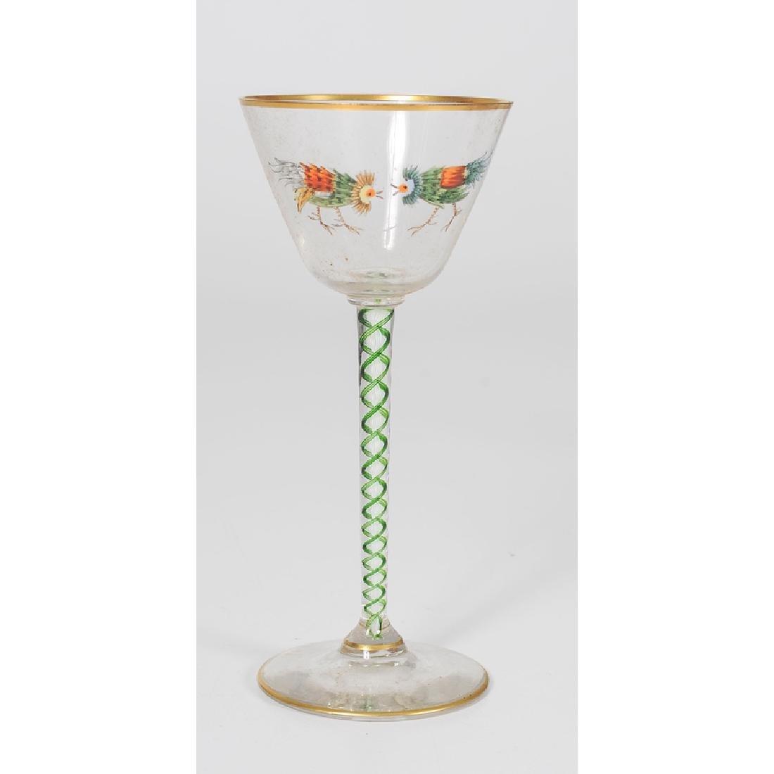 Threaded Glass Wine Glasses - 5