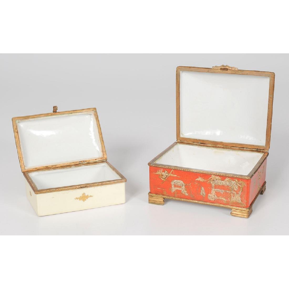 French Porcelain Dresser Boxes - 2