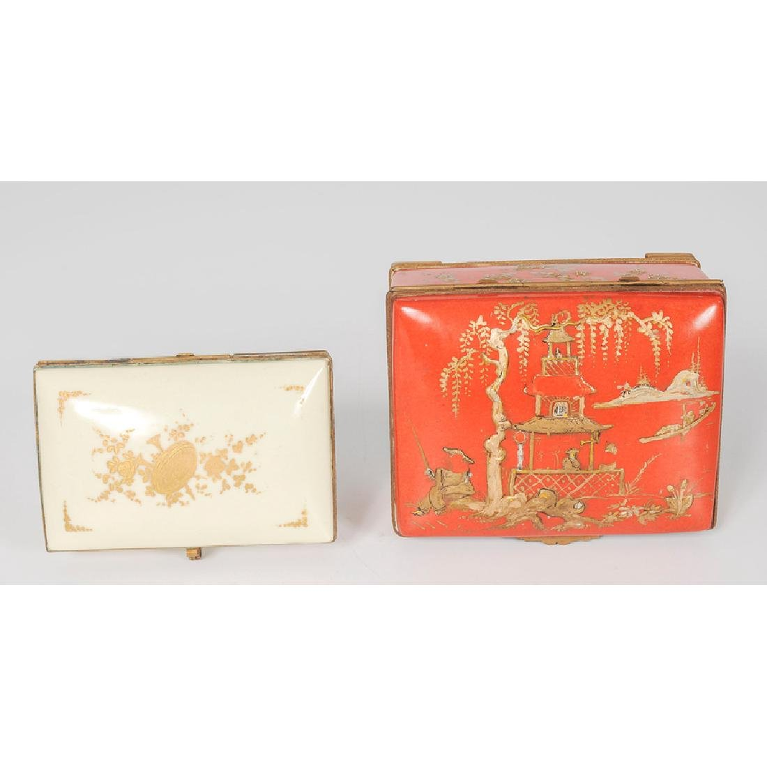 French Porcelain Dresser Boxes - 3