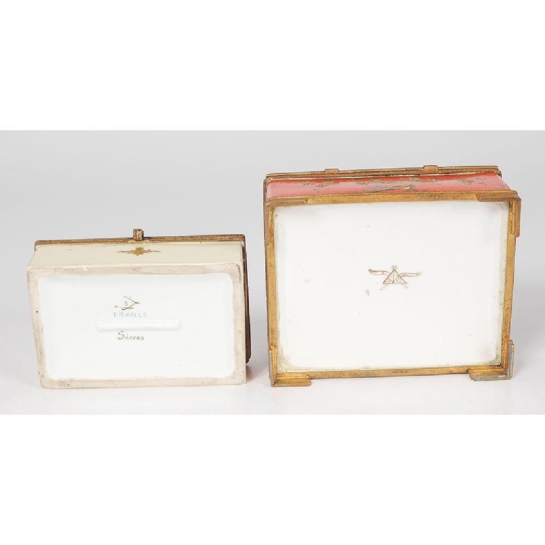 French Porcelain Dresser Boxes - 4