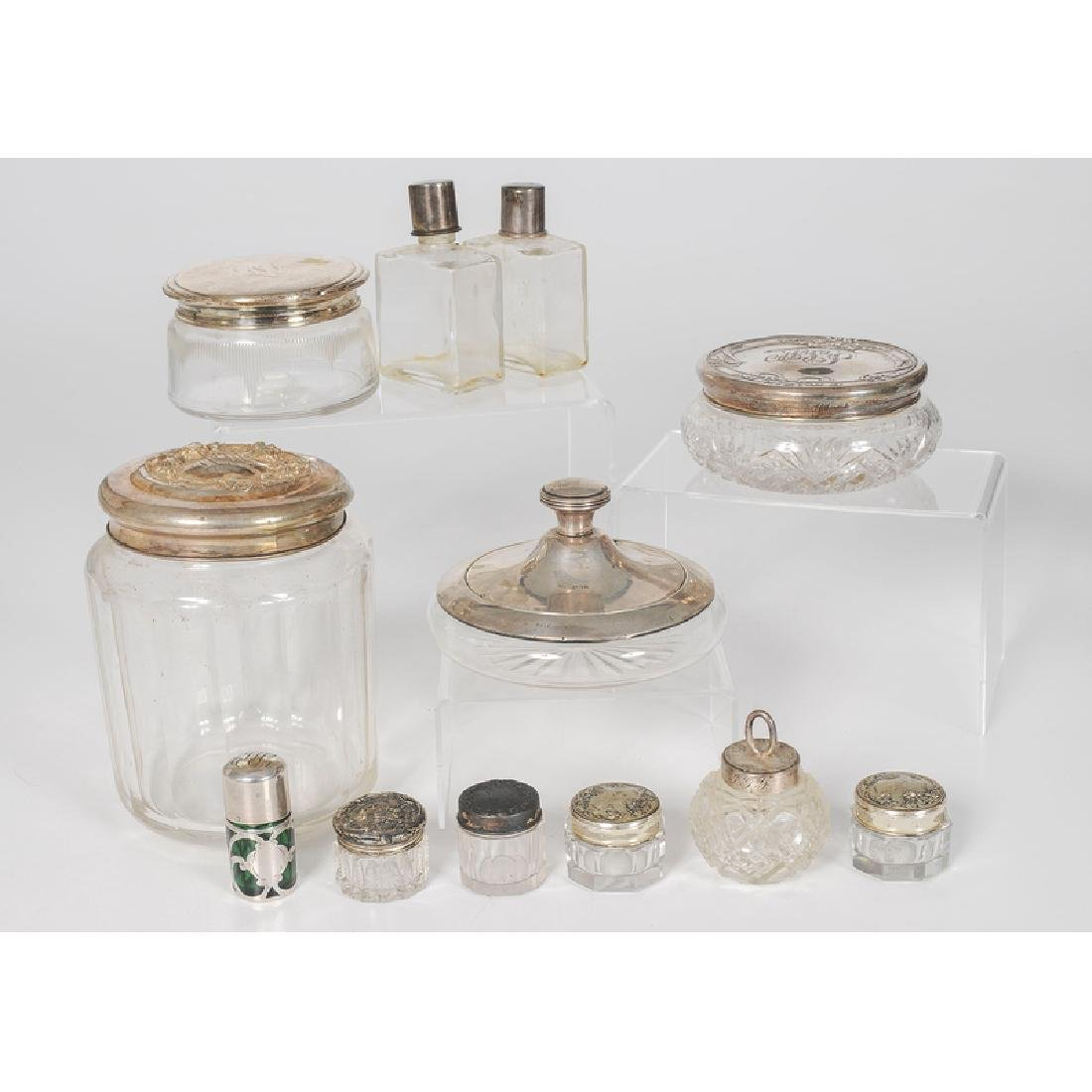 Sterling-Lidded Jars and Boxes