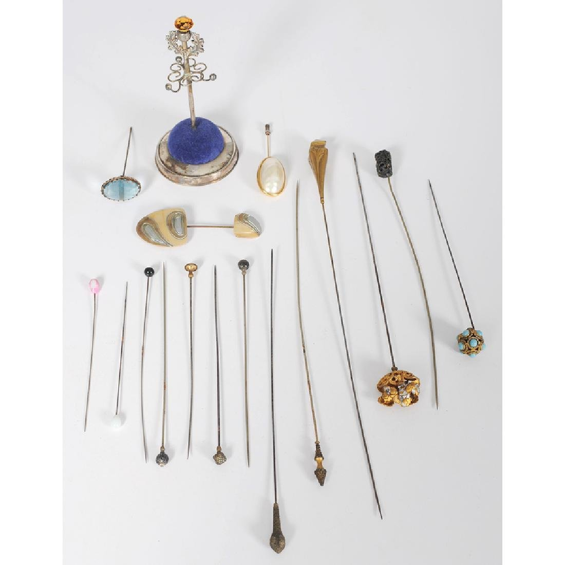 Hat Pins and Sterling Pin Stand