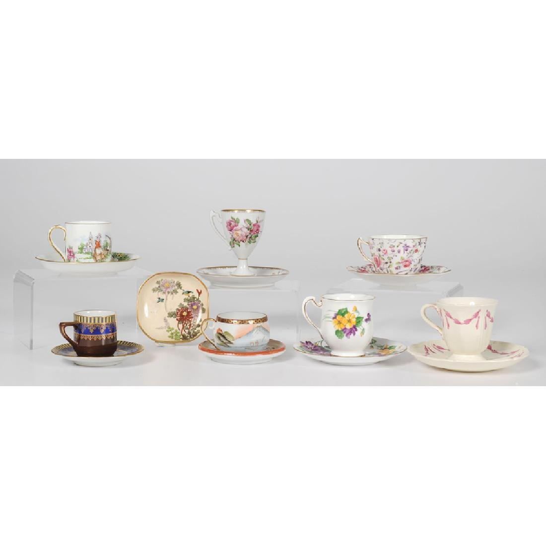 Assorted Collection of Teacups and Saucers